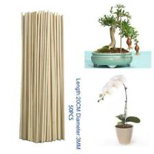Bamboo Wooden Plant Sticks Canes 50 X 20cm Garden Plants Support Flower 7e4w
