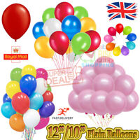 "100x Latex PLAIN BALOONS 10"" helium BALLOONS Quality Birthday Wedding Party Deco"