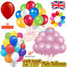"100x Latex PLAIN BALOONS 10"" helium BALLOONS Quality Birthday Wedding Party Deco"