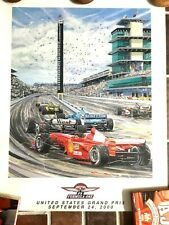 Formula 1 F1 2000 UNITED STATES GRAND PRIX Indianapolis Motor Speedway POSTER