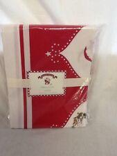 "Pottery Barn Kids Santa Tablecloth 70"" wide x 90"" long Christmas Holiday"