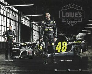 2018 JIMMIE JOHNSON #48 LOWES FOR PROS 1 OF 2 NASCAR MONSTER ENERGY POSTCARD