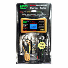 Battery Saver 6 & 12 Volt Battery Charger, Maintainer, Cleaner & Tester (25Watt)