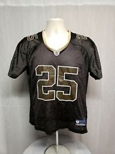 Reebok NFL Equipment Reggie Bush #25 New Orleans Saints Womens M Brown Jersey