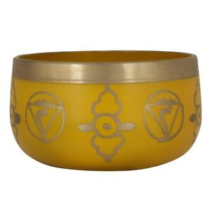 Yellow Color Round Printed Steel Singing Decorative Bowl For Kitchen Use