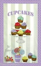 BEAUVILLE Dish Towel: CUPCAKES Lollipop Sweets Candies +FREE FRENCH CANDY GIFT