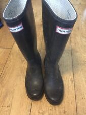 Hunter Wellies In Black Size 3