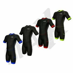 Sparx Men's Competitor Triathlon Race Suit Short Sleeve Aero Tri Suit Skinsuit