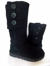 UGG~ CLASSIC CARDY Button Boots cuffable slouchy~Black US 7/38 New #1016655