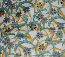 68cm PATCHWORK FABRIC - DECO DREAMS - JADE/GOLD ON WHITE(GILDED) - LAST PIECE !!
