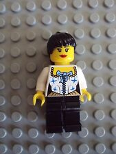 Lego Minifig ~ Pirate Queen Maiden Princess Girl Female Wench w/Black Hair #qvr5