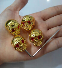 4 Pcs Gold Skull Head Volume Tone Control Knob for Guitar Parts Replacement