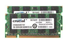 4  G Crucial 4GB 2X 2GB PC2-6400 DDR2-800MHz RAM Memory F MacBook iMac 2008 2009
