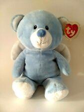 Ty Pluffies Bear Plush Little Blue Angel 2011 100% TyLux Machine Washable
