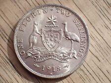 1918 Australian Florin  UNC/CHOICE UNC