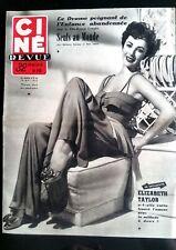 Ciné Revue 16/05/1952; Elizabeth Taylor/ Clay Campbell/ Clark Gable/ Cannes Fest