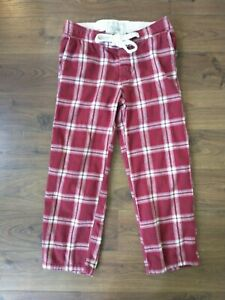 ABERCROMBIE & FITCH RED PLAID PAJAMA/LOUNGE PANTS MENS SIZE SMALL