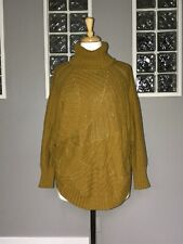 ANGEL OF THE NORTH HARVEST MOON PONCHO SWEATER ANTHROPOLOGIE DOLMAN CABLE KNIT