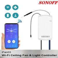 Sonoff IFan03 Ceiling Fan Controller WiFi Smart Ceiling Fan w/ Light APP Remote*