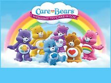 CARE BEARS Birthday Party Frosting Cake Topper 1/4 sheet