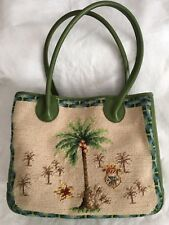 KATHA DIDDEL EMBROIDERED AND LEATHER VINTAGE TOTE/PURSE
