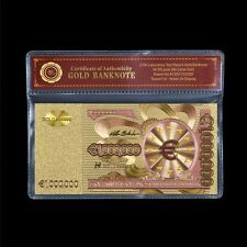 €1 Million Euro Gold Plated Banknote European Union Business Gift Note /w COA