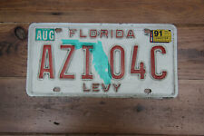 American license plate Florida Levy county  # AZI 04C