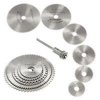 7PCS Mini HSS Rotary Circular Saw Blades Set Cutting Discs Mandrel Cutoff  Tool