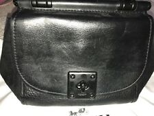 Coach Classic Black Suede And Leather Bag