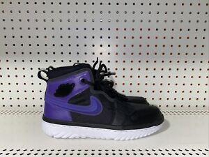 Jordan 1 High React Black Court Purple Mens Basketball Shoes Size 9 AR5321-005