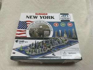 The City Of New York History Over Time Puzzle 4D Cityscape. All Buildings, 700+