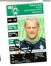 Thomas Schaaf  Quartettkarte 2006 Werder Bremen mit original Unterschrift !