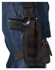 "Universal Black 4"" Tactical Leg Holster With Mag Pouch 10550"