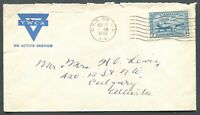 "CANADA WWII ERA MILITARY COVER N.P.O. CANCEL ""618"""