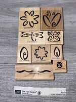 Stampin' Up Two-Step Stampin' Fresh Flowers Rubber Stamp Set 2001 Retired