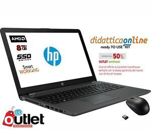 "HP 255 G6 PC, cpu Amd E2, 15,6"" ,SSD 250 GB,8 GB RAM DDR4,WIN 10 PRO WAREHOUSE"