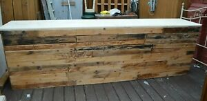 Large Vintage Rustic Industrial Bar Cafe Restaurant Coffee Shop Display Counter