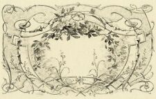 Decoration Ornament Floral - Art Deco Louis Henri Poterlet engraving Original