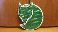 Fjallraven Iron On Patch Green Fox with White Trim/Border