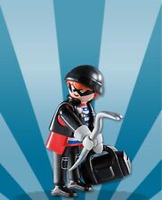 Playmobil Boy Mystery Figure Series 8 5596 Thief Bank Robber Burglar Crowbar Bag