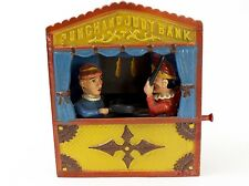 Cast Iron Punch & Judy Mechanical Bank REPRODUCTION from BOOK OF KNOWLEDGE