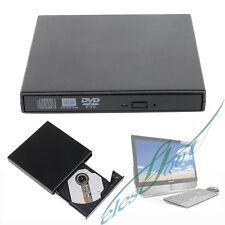 USB 2.0 External DVD Combo CD-RW Burner Drive CD±RW DVD ROM Black for Windows