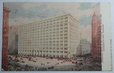 1908 POSTCARD MARXHALL FIELD & CO'S STORE FROM STATE & WASHINGTON ST CHICAGO IL