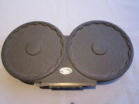 RARE BACH AURICON 400FT FILM MAGAZINE CANISTER for 16mm MOVIE CAMERA
