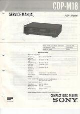 Sony Service Anleitung Manual CDP-M18  B1147