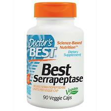 DOCTORS BEST - SERRAPEPTASE - 90 x 40,000 IU - VEGGIE CAPS - PROTEOLYTIC ENZYME
