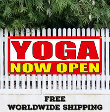Yoga Now Open Banner Vinyl Advertising Sign Flag Chakra Reiki Studio Pilates