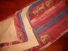 HIGH COUNTRY SKYIES HORSES CAMEL RED BLUE GOLD PURPLE WOVEN (1) FULL DUVET 80X84