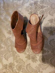 "Call it Spring ""ORIANNA"" Open Toe High Heel Booties Womens sz 11."