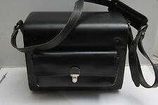 "Black Shoulder Case Camera Bag - Approx 6x9x11.5"" - Quick Flip Open - VINTAGE DT"